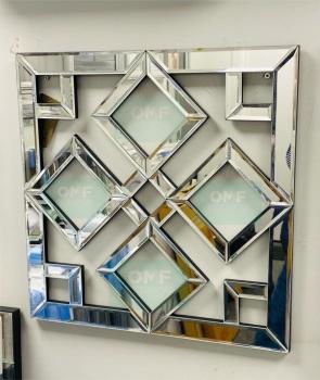 Geometric Diamonds Wall Mirror 40cm x 40cm (C)