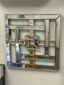 Geometric Lines Wall Mirror 80cm x 80cm (B)