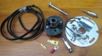 Points & Condensor on mounting plate with Advance unit for Harley Davidson