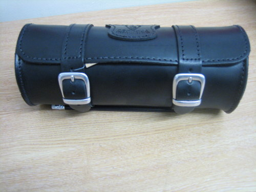 Leather Tool Roll Black made from strong leather 2 x 1