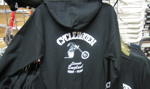Cycle Haven Hooded Sweat Shirt available in Med, Large, XLarge & XXLarge Bl