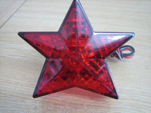 Star Tail Light Red Plastic Harley Custom Bobber