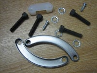Stator Mount Kit includes lock plates, plug retainer, and hardware Fits 70-13 Big Twin Harley Davidson