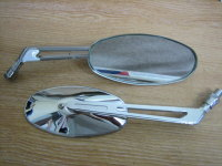1 pair Oval Chrome Mirrors 5