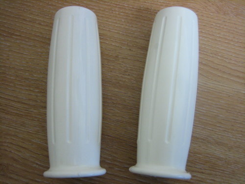 White Rubber Grips Fits 7/8