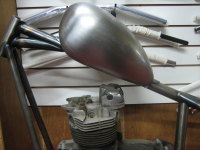 WASSELL Type.. ( LOW ) Tunnel.. style petrol tank...Screw in gas cap type use for Harley Chopper or Bobber Custom
