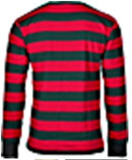 Black & RED STRIPE Longsleeves by King Kerosin.... LARGE