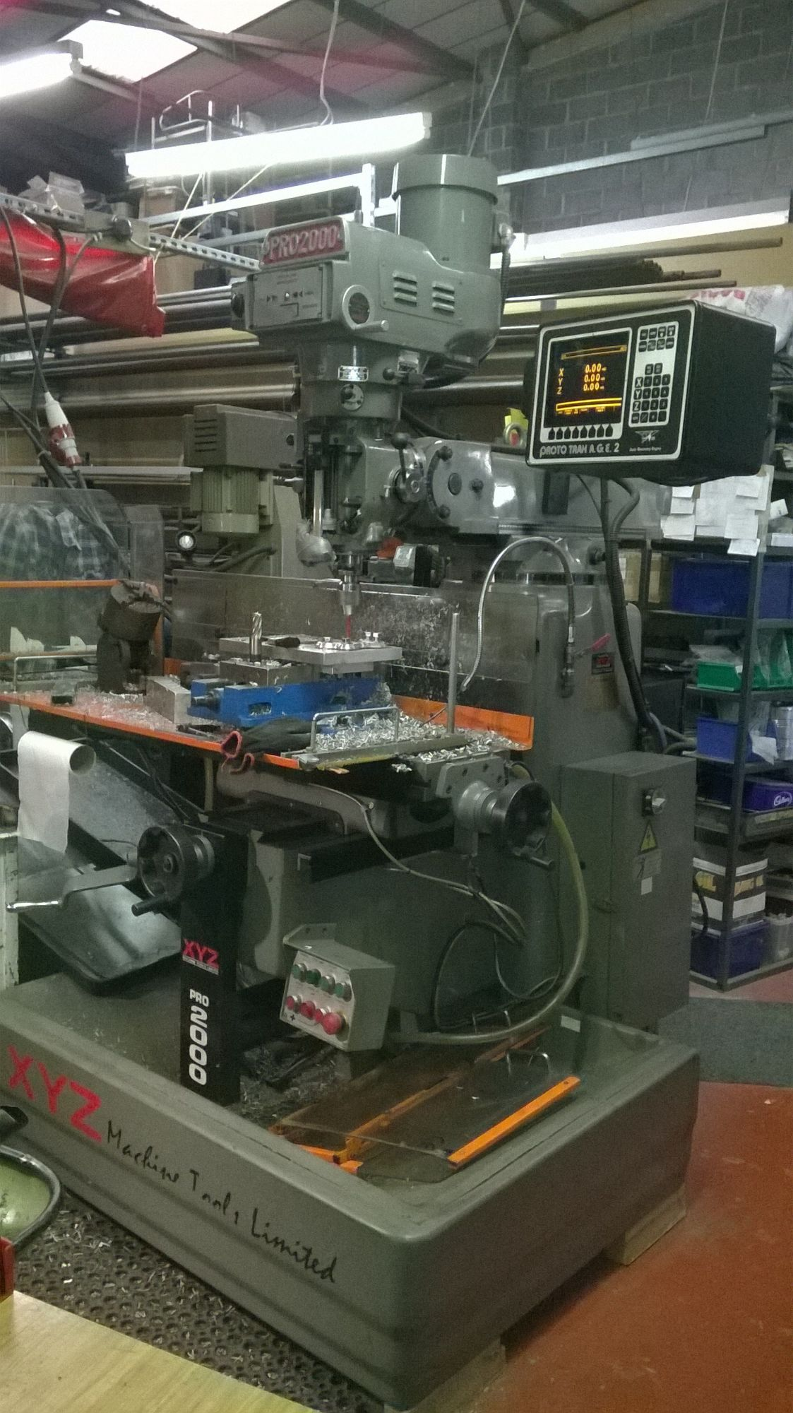 Xyz Proto Trak Age Pro 2000 Cnc 2 Axis Milling Machine 3 Phase Wiring X Y Z