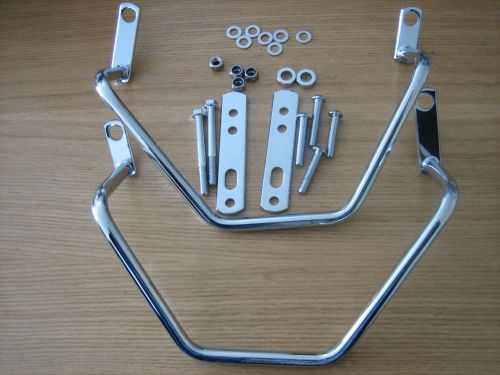 Chrome Saddle Bag Supports Fits Dyna 2006 to Present (except 2008 to presen
