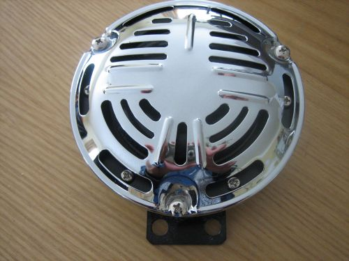 Chrome Springer Style 120mm wide Horn with Bracket 12v