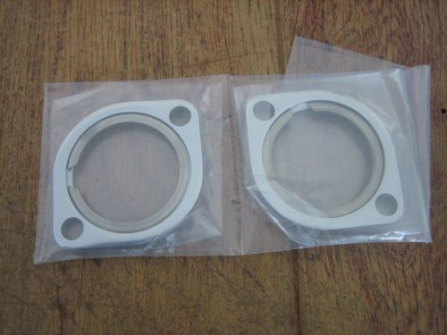 Chrome Exhaust Flange and Retaining Rings Fits all Big Twins & Sportster 84