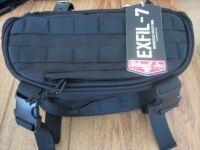 Biltwell Exfil-7 Bag Black Universal, Different Mounting Possibilities, Four Reinforced Leather Straps