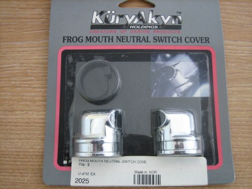 Kuryakyn Frog Mouth Neutral Switch Cover fits Harley Davidson 98-05 Dynas,