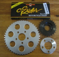 # Big Twin.. 5 Speed 86 - 99 Trans 24T sprocket + 48T rear + 120 Link Heavy Duty Chain & Locking allen cap screw Harley chain conversion