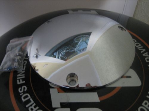 Domed Derby Cover Chrome 3 Hole Fits 70-98 Big Twin Harley Davidson