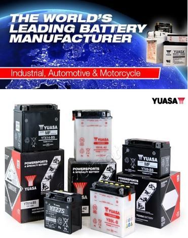 Yuasa High Performance Maintenance Free Battery replaces YTX14L Harley Davi