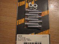 Chrome Lifter Block Bolt Kit Fits Dyna 99-05 Smooth. Harley Davidson