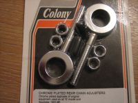 Chrome Rear Chain Adjusters Duplicate of OEM used on all `K` Models and Sportster 1952-80 Harley Davidson