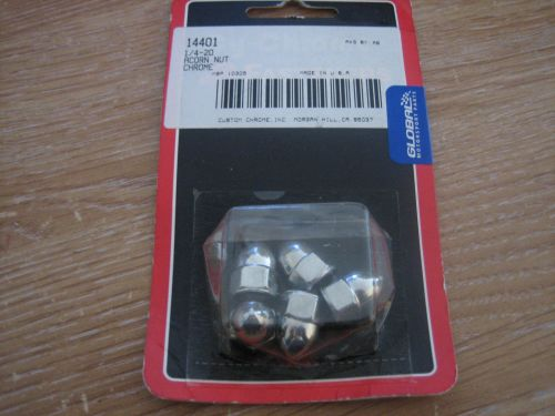 Chrome Acorn Nuts 1/4