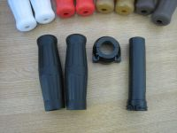 "1"" Black Grips with Black Push Pull Throttle & Pipe for Harley Davidson Chopper Bobber Custom"