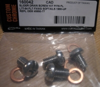 Fork Slider Drain SCREW for Harley Davidson FL models 41mm forks 77 to 84 & 80 to 99 Softail replaces 45858-77