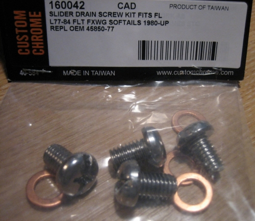 Fork Slider Drain SCREW for Harley Davidson FL models 41mm forks 77 to 84 &