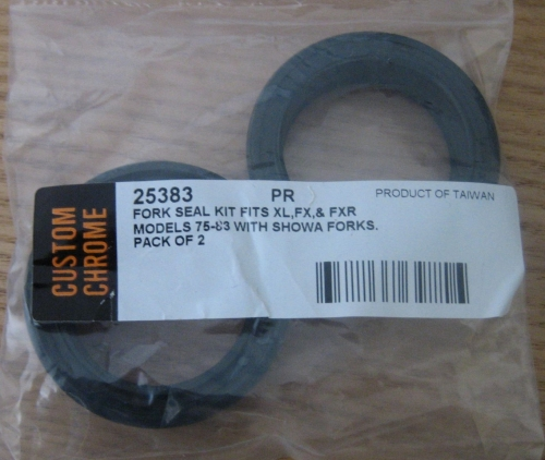 Fork Seals fits Sporster, FX and FXR models from 75-83 with 35mm Showa Fork