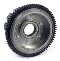 Clutch shell with rotor for stator complete with bearing replaces the Sportster Harley OEM 36791-84