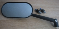 Oblong Black UNIVERSAL Mirror for Harley - Metric - Triumph or Custom