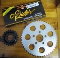 # Sportster 2000 up 21T Transmission & 48T rear wheel Sprocket & * CC Rider * Chain conversion for Harley Davidson