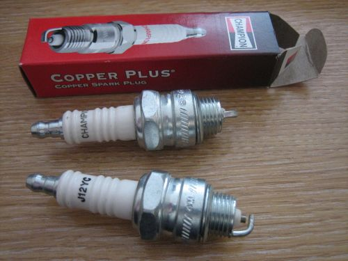 CHAMPION J12YC Copper Plus spark plugs for Big Twin 48-74 Harley Davidson
