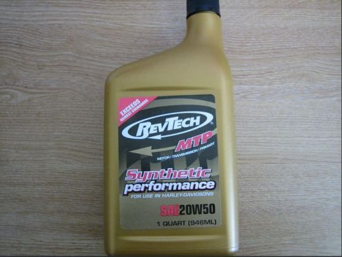 SYNTHETIC MTP OIL 20W50 Quarts by RevTech for Harley Davidson Engines - Pri