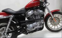 Sportster SHOT GUN high level BLACK exhaust pipes to replace stock Harley
