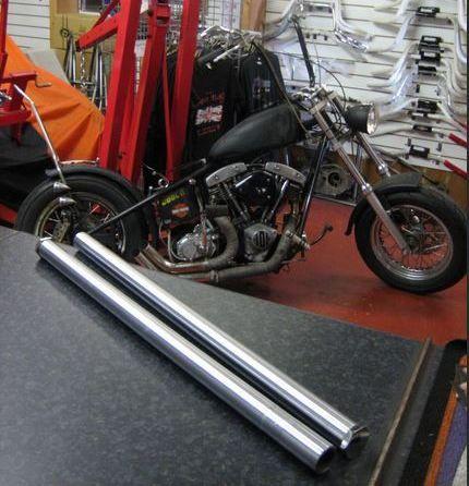 NONE EXTERNAL BUSH TYPE Fork Tubes available from stock for Chopper Bobber
