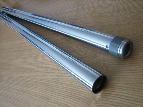 39mm Hard Chrome Extended Overstock Fork Tubes Harley 2009 up Based on Stoc