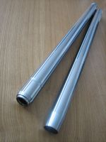 35mm HARD Chrome Fork Tubes to replace Harley Davidson OEM 45407-75 / 45644-77 SHOWA type stock length 23 1/4