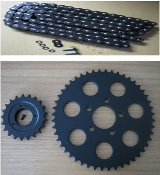 # Sportster 2000 up 21T Transmission & 48T * BLACK * rear wheel Sprocket &