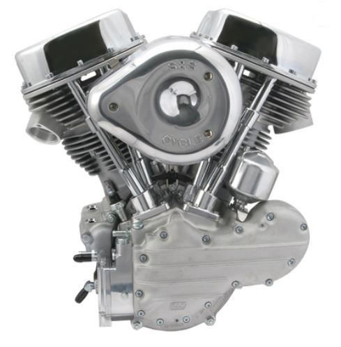 S&S P SERIES 74ci Panhead style engine, 7.5:1 compression