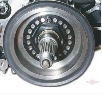JIMS Mega Nut for the transmission pulley on 5 speed Harley models 93-06
