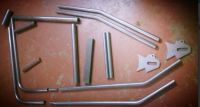 Frame Kit Stock forks CDS SEAMLESS tube main content all through with Harley type MACHINED Headstock Chopper Bobber Hardtail Rigid