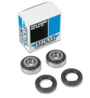 Tapered Wheel Bearing kit for one install includes seals. Fits Front & Rear of Most Harley Davidson Models from 73-99 instead of OEM 9052