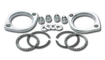 Exhaust flange kit Fits Big Twin 84-99, XL 86-13, Twin Cam 99-15 Harley Dav