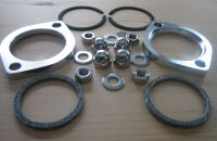 Exhaust Flange Kit * STAINLESS STEEL FASTENERS * with FLAT gaskets instead of Harley Davidson 65324-83