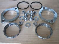 Exhaust Flange Kit * STAINLESS STEEL FASTENERS * with CONE gaskets instead of Harley Davidson 65324-83A, 65324-83B