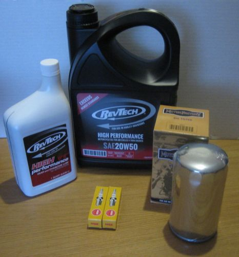 Buell Service Kit EXTRA LONG CHROME MAGNETIC Oil Filter, Plugs Cycle Haven