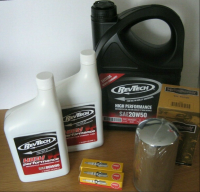 Dyna MINERAL OIL Service Kit  CHROME * EXTRA * Long Oil Filter Harley Dyna Glide Evo 91-98 Cycle Haven