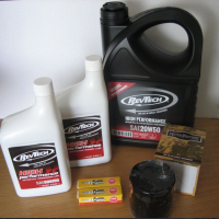 Twin Cam & M8 Service Kit Cycle Haven for Harley Davidson Softail & Dyna Oil Filter BLACK