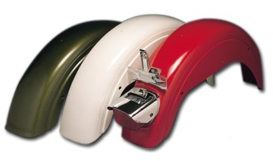 Bobbed stock Harley rear fender 41.5