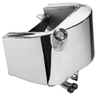 89-99 Chrome ( OEM style ) Oil Tank to replace  Harley Davidson FXST FLST ( OEM 62498-89 ) models 2.8 Ltre ( 3 US Quarts )
