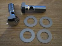 Head Breather Bolts EVO Big Twin 93-17 Harley Davidson 1/2